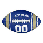 Blue|Gold Football Jersey Stripes
