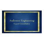 Blue Gold Frame Professional Business Card
