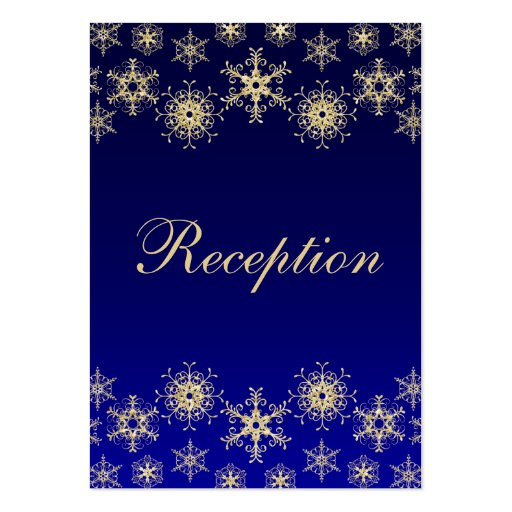 Blue, Gold Glitter LOOK Snowflakes Enclosure Card Business Card