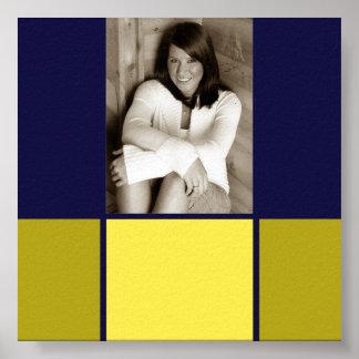 Blue & Gold Graduation autograph poster