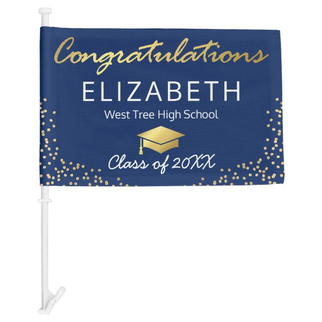 Blue Gold Graduation | Class of 2021 Car Flag