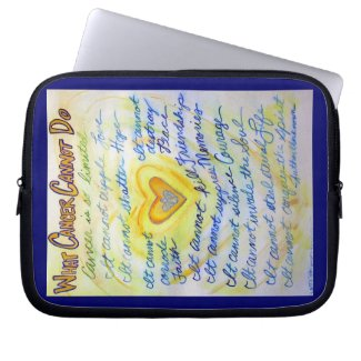 Blue & Gold Heart Computer Sleeve Electronics