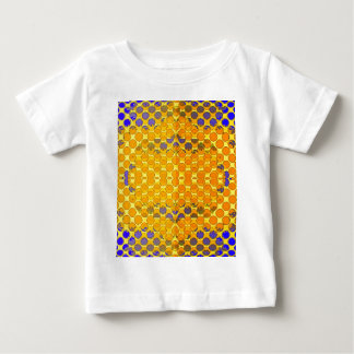 Blue-Gold Honeny Comb Design byb Sharles Baby T-Shirt