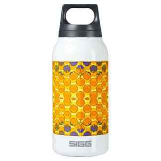 Blue-Gold Honeny Comb Design byb Sharles Insulated Water Bottle