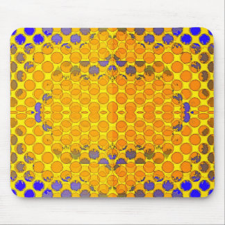 Blue-Gold Honeny Comb Design byb Sharles Mouse Pad