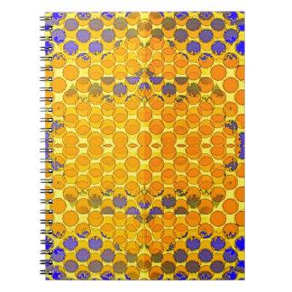 Blue-Gold Honeny Comb Design byb Sharles Notebooks