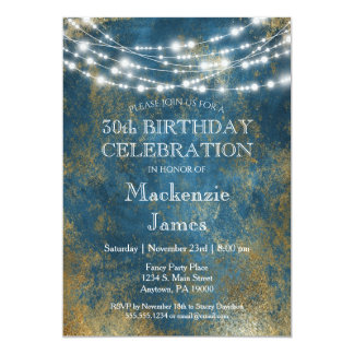 blue party invitations