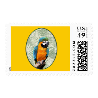 Blue & Gold Macaw with Jungle Background Postage