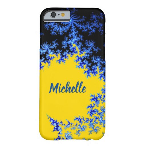 Blue Gold Mandelbrot Fractal Barely There iPhone 6 Case