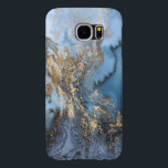"(blue &amp; gold marble) Galaxy S6 Samsung Galaxy S6 Case<br><div class=""desc"">This is a very cool case that looks just like a beautiful unique blue &amp; gold marble... CLASSY!</div>"