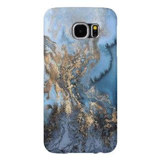 (blue & gold marble) Galaxy S6 Samsung Galaxy S6 Case