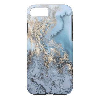(blue & gold marble) iphone 7/8 case