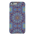 Blue Gold Peacock Geometric iPhone 6 Case