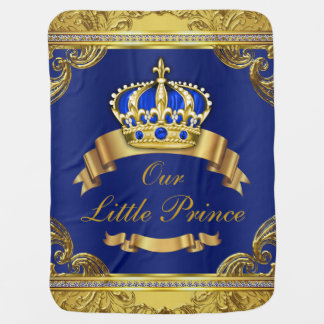 Blue Gold Prince Fancy Prince Baby Swaddle Blanket