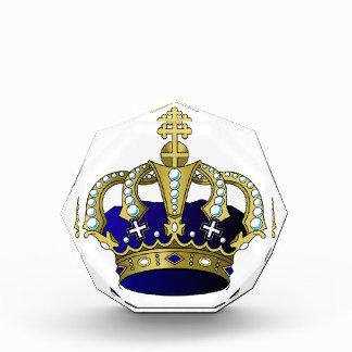 Blue & Gold Royal Crown Acrylic Award