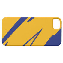 Blue & Gold Rush Barely There iPhone 5 Case