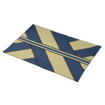 Blue & Gold Sashes & Stripes Placemat