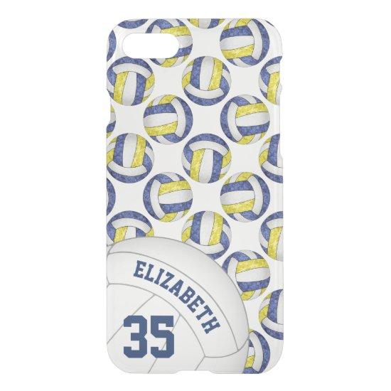 blue gold school team spirit girls' volleyball iPhone 8/7 case