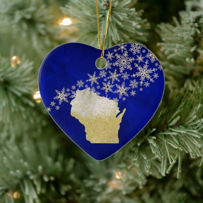 Wisconsin State Ceramic Ornament