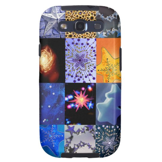 Blue & Gold Stars Photography Collage Samsung Galaxy SIII Cover