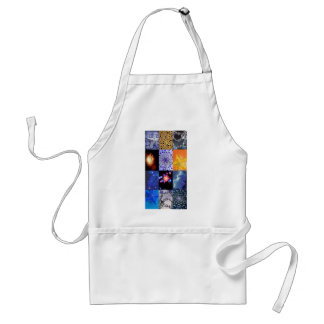 Blue & Gold Stars Photos Collage Adult Apron