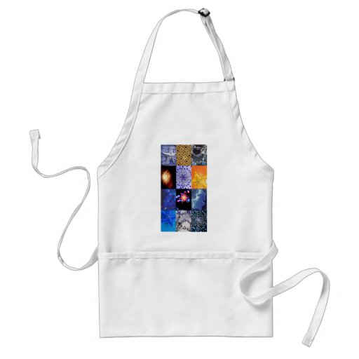Blue & Gold Stars Photos Collage Aprons