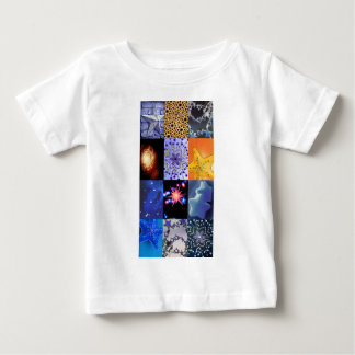 Blue & Gold Stars Photos Collage Baby T-Shirt