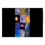 Blue & Gold Stars Photos Collage Greeting Cards