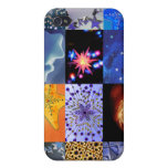 Blue & Gold Stars Photos Collage iPhone 4 Covers
