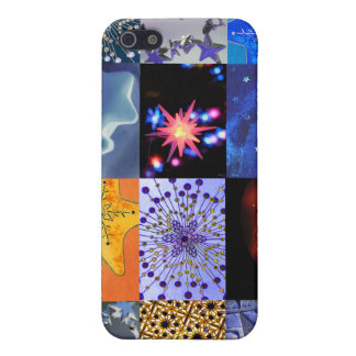 Blue & Gold Stars Photos Collage iPhone SE/5/5s Cover