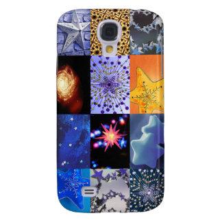 Blue & Gold Stars Photos Collage Samsung Galaxy S4 Case