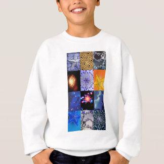 Blue & Gold Stars Photos Collage Sweatshirt