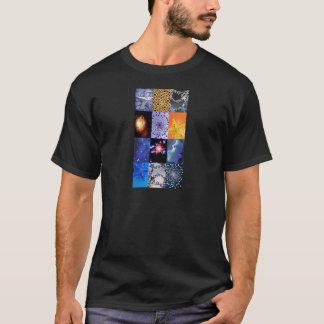 Blue & Gold Stars Photos Collage T-Shirt