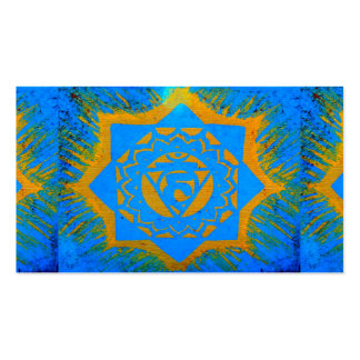 blue gold tantric tibetan Double-Sided standard business cards (Pack of 100)