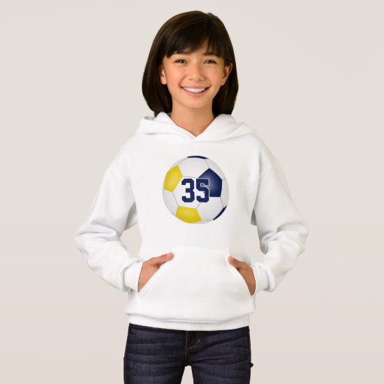 blue gold team colors jersey number soccer hoodie