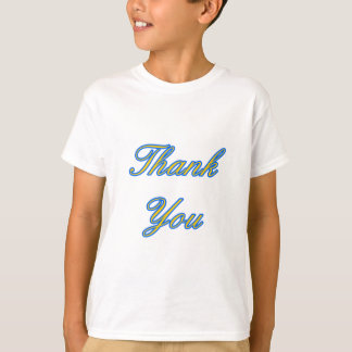 Blue Gold Thank You Design The MUSEUM Zazzle Gifts T-Shirt