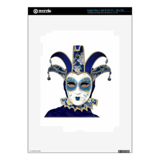 Blue Gold Venetian Carnivale Mask Decal For iPad 3
