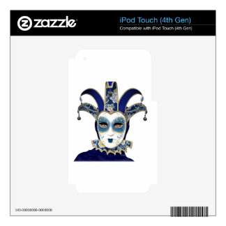 Blue Gold Venetian Carnivale Mask Decal For iPod Touch 4G