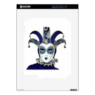 Blue Gold Venetian Carnivale Mask iPad 2 Skin