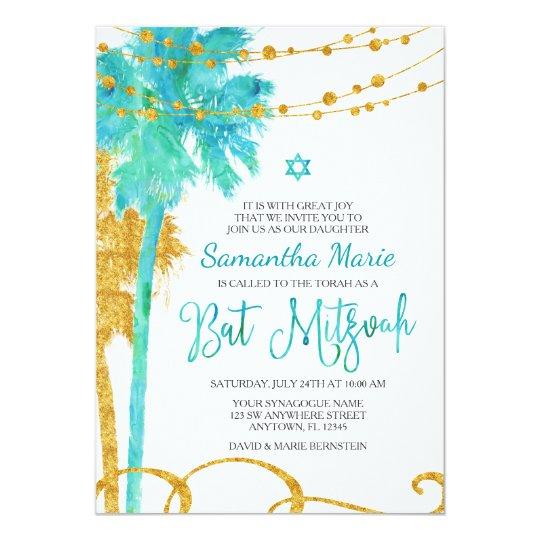 blue and gold invitation