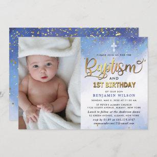 baptism 1st birthday invitations zazzle