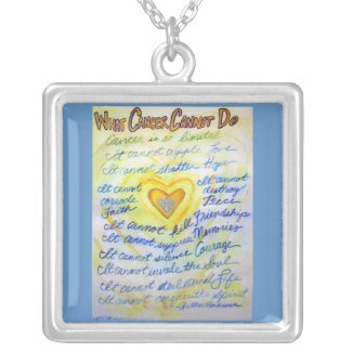 Blue + Gold What Cancer Cannot Do Necklace Jewelry