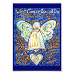 Blue & Gold What Cancer Cannot Do Photo Print