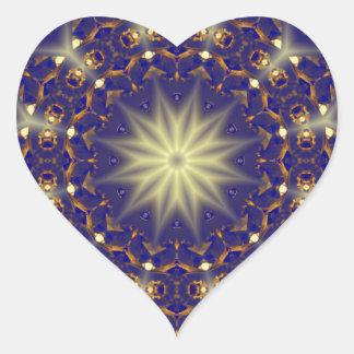Blue Gold Wings by CGB Digital Art.png Heart Sticker