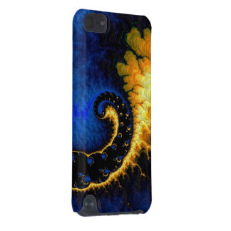 Blue Golden Yellow Fractal iPod Touch (5th Generation) Cover