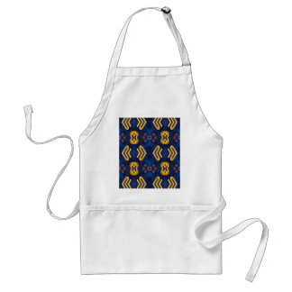 Blue Golden Yellow Masculine Pattern Adult Apron