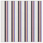 [ Thumbnail: Blue, Goldenrod, Plum, Black & White Colored Fabric ]