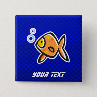 Blue Goldfish Button