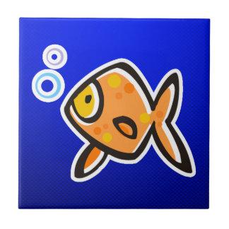 Blue Goldfish Ceramic Tile