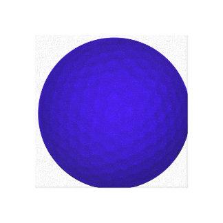 Blue Golf Ball Gallery Wrap Canvas
